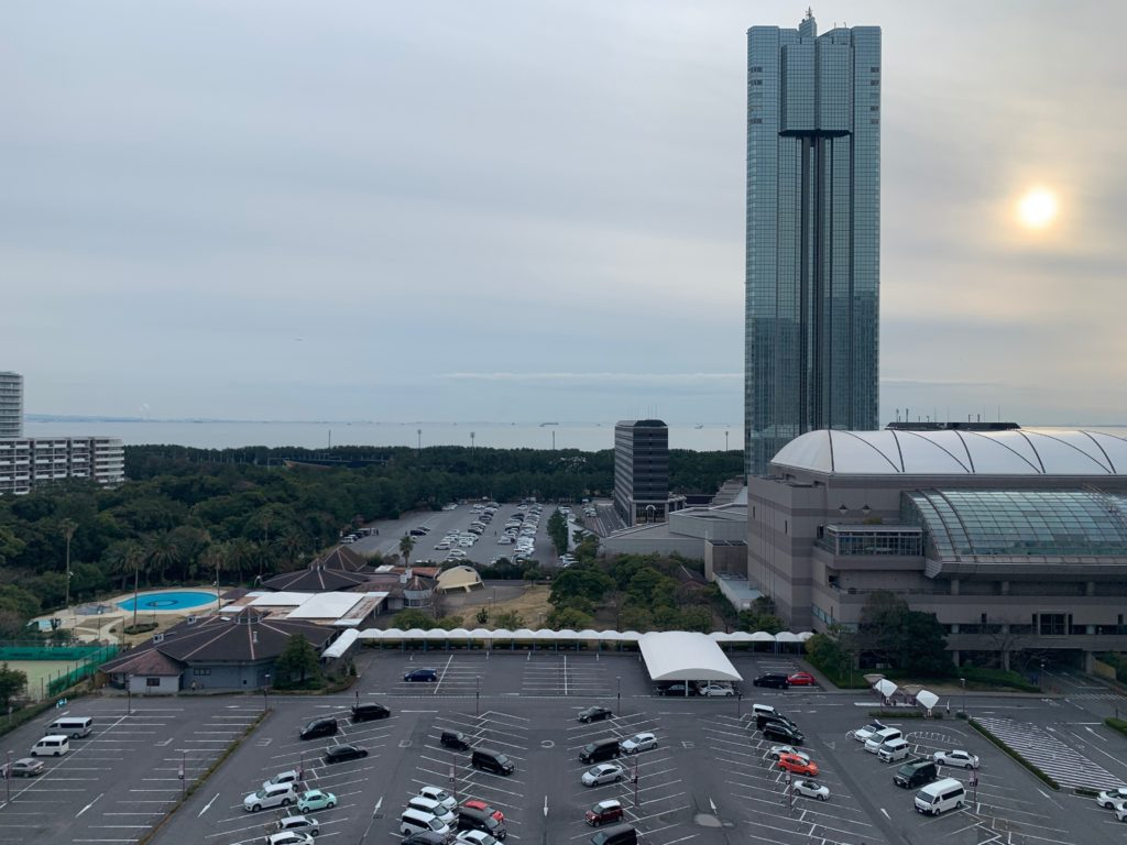 ホテルフランクスのスタイリッシュツインルームからの眺望