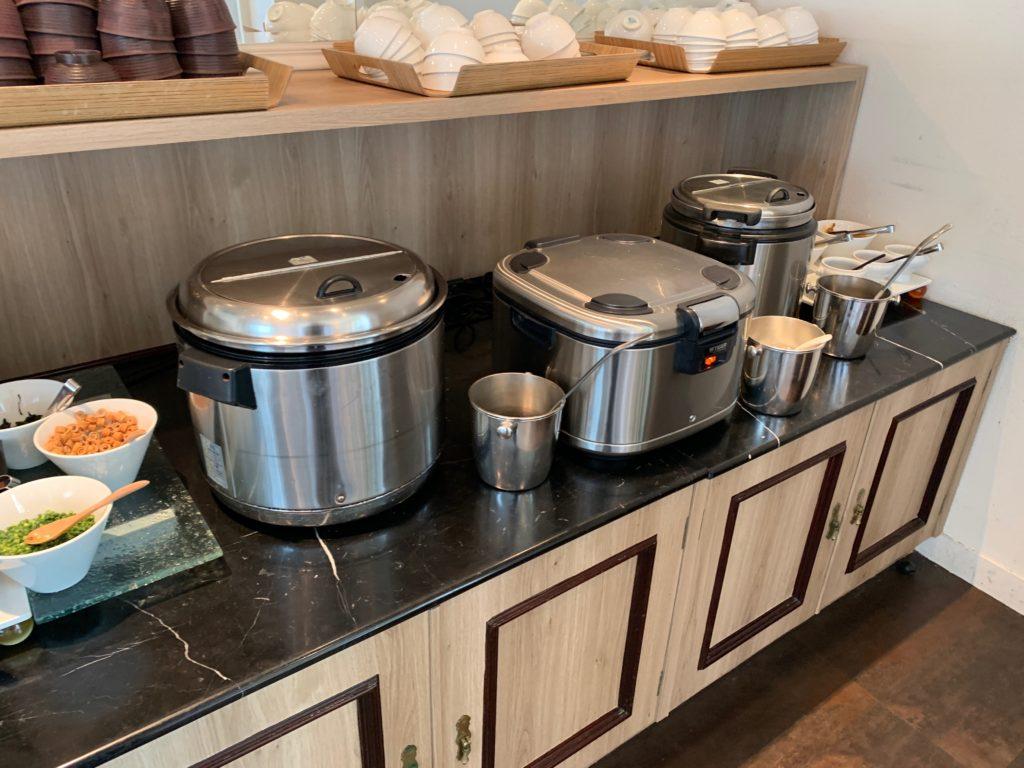 ホテルフランクスの14階の朝食ブッフェ会場の和食