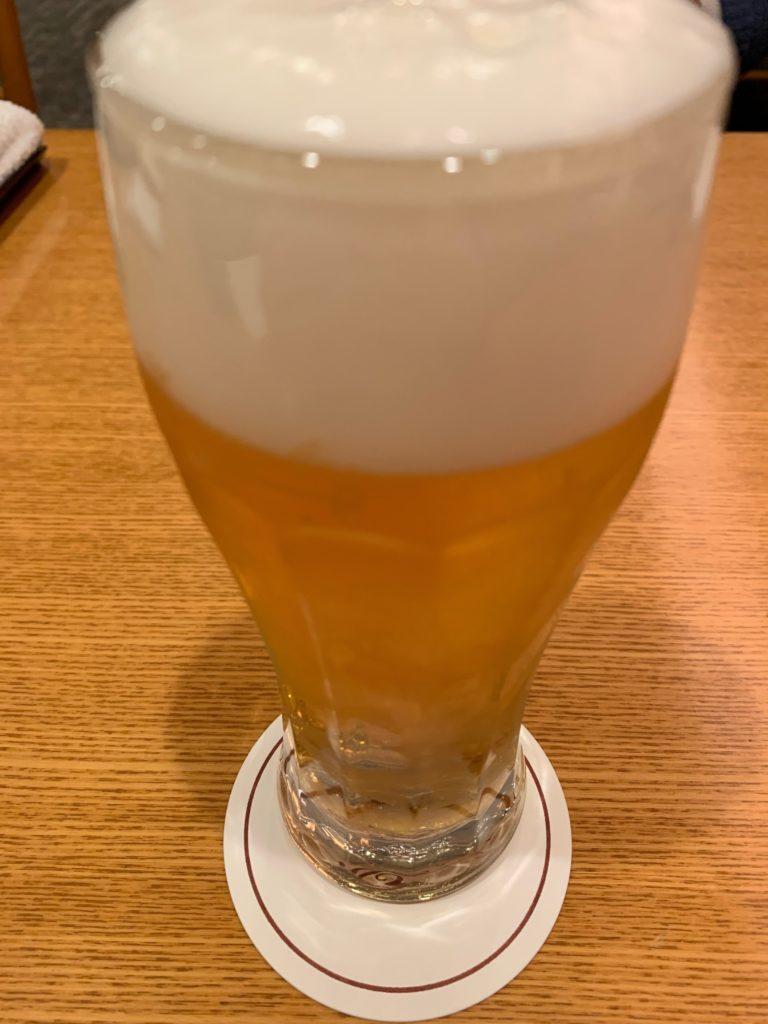びわ湖大津プリンスホテルの『和食 清水』のビール