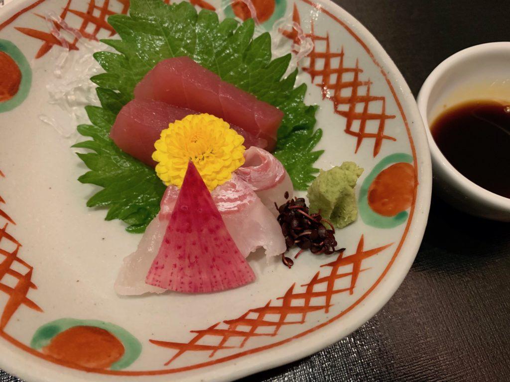 びわ湖大津プリンスホテルの『和食 清水』のすき焼き懐石のお造り