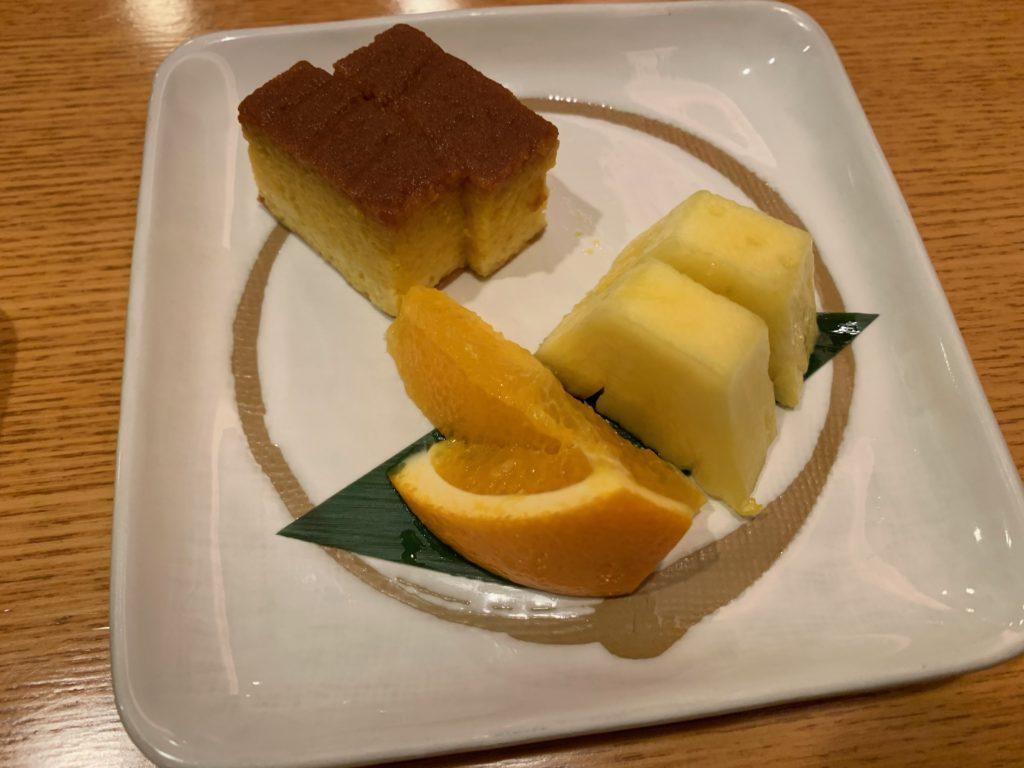 びわ湖大津プリンスホテルの『和食 清水』のすき焼き懐石の水物