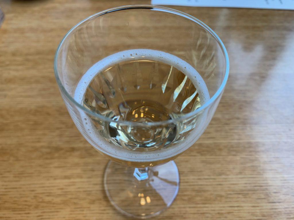 びわ湖大津プリンスホテルのスカイラウンジの『和食 清水』の朝食の果汁酒