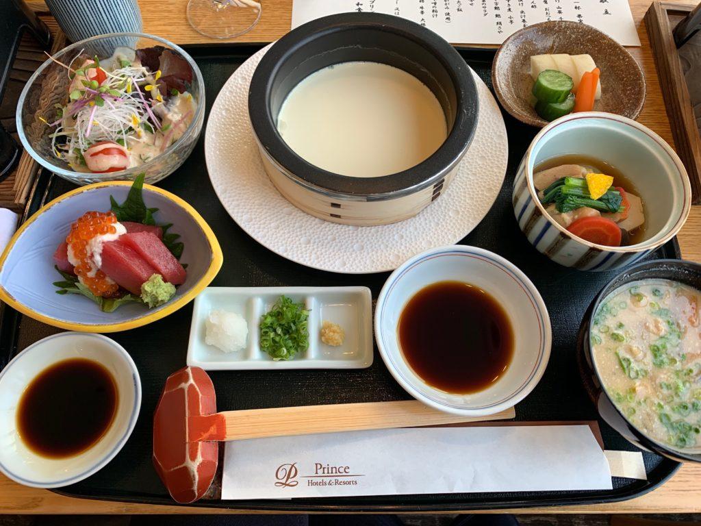 びわ湖大津プリンスホテルのスカイラウンジの『和食 清水』の朝食