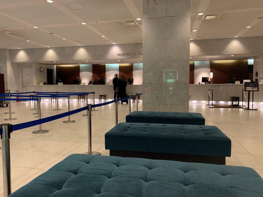 新横浜プリンスホテルのフロント