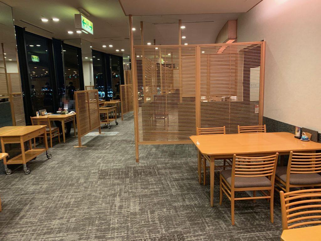 びわ湖大津プリンスホテルの『和食 清水』の館内の様子