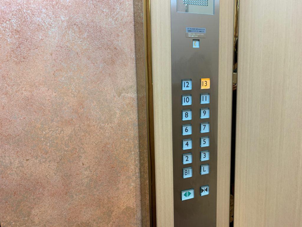 ホテルニューオータニ鳥取のエレベーター