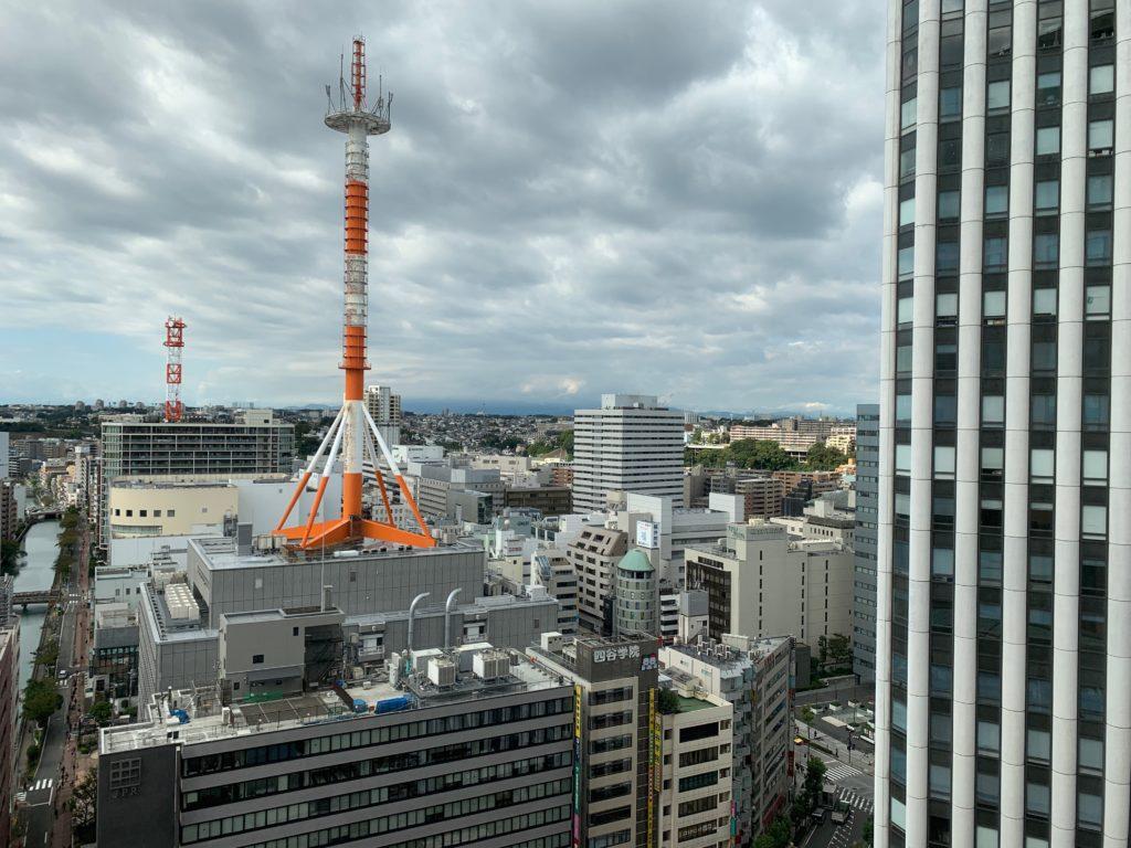 横浜ベイシェラトンホテル&タワーズのスタンダードダブルルームからの眺望
