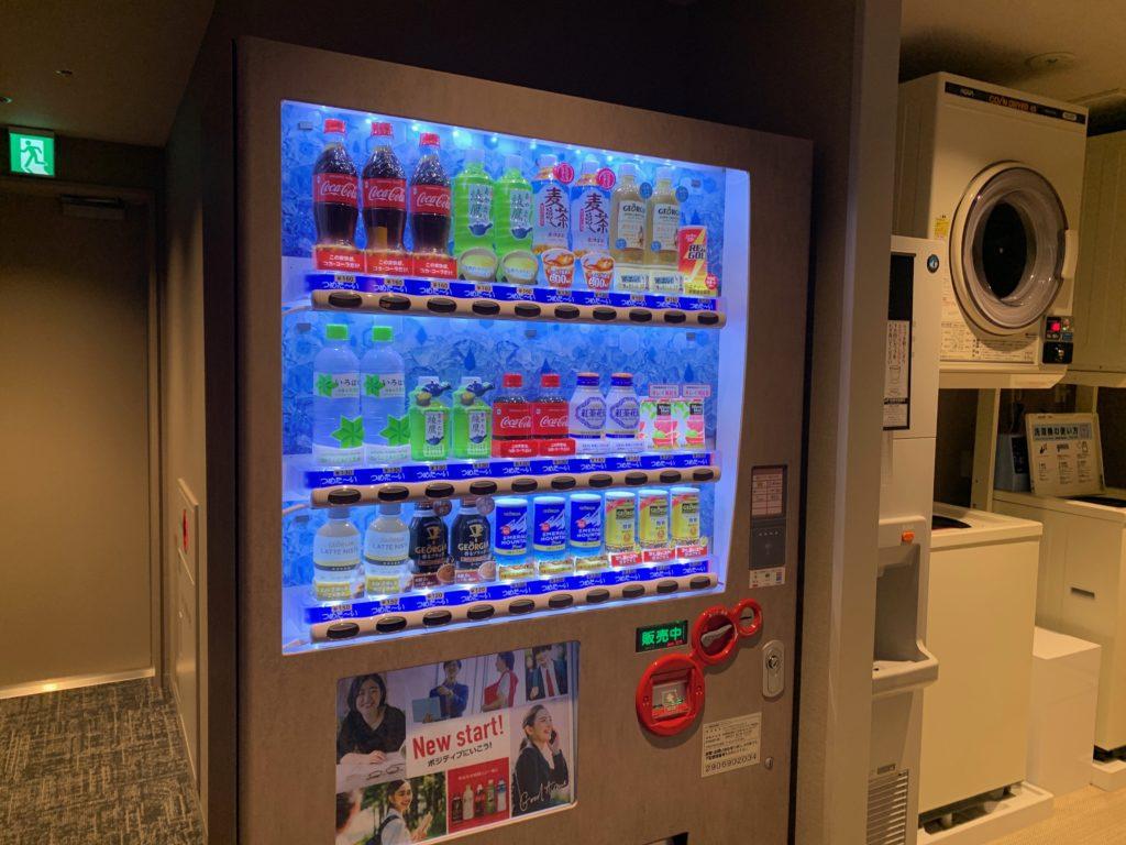 銀座  露天の湯  日和ホテル東京銀座EASTの大浴場前にある自動販売機