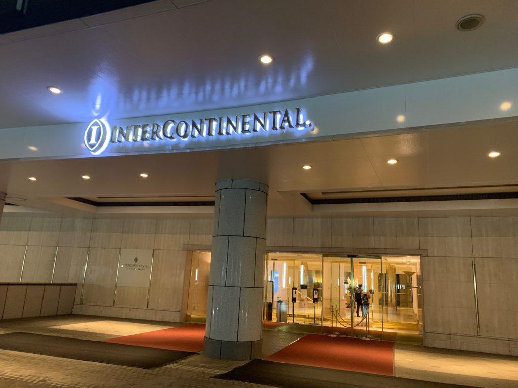 ヨコハマ グランド インターコンチネンタル ホテルのエントランス