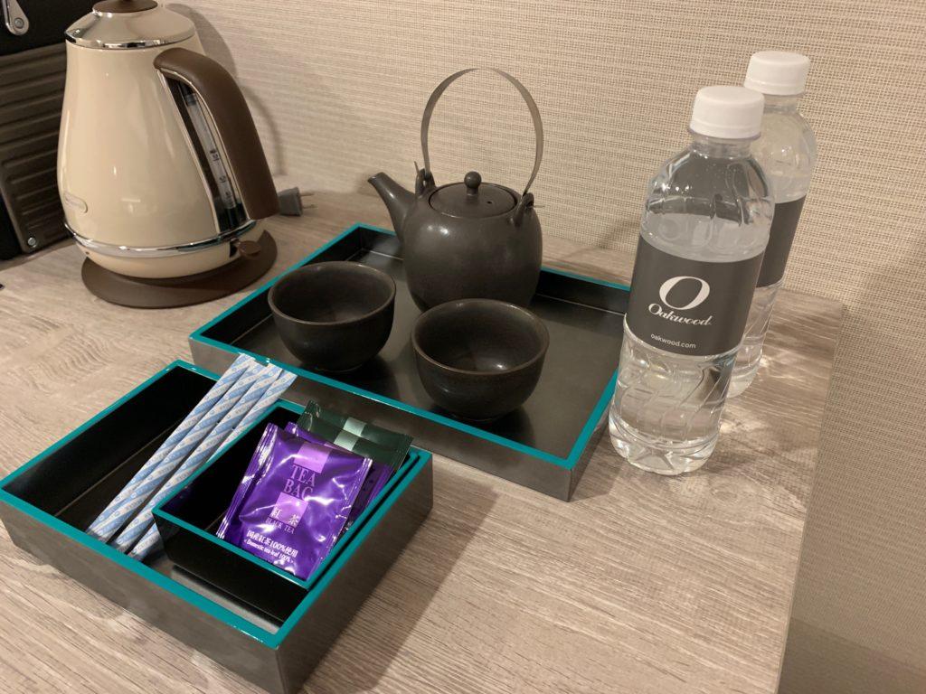 オークウッドスイーツ横浜の客室(スタジオ デラックス ベイビュー ツイン)
