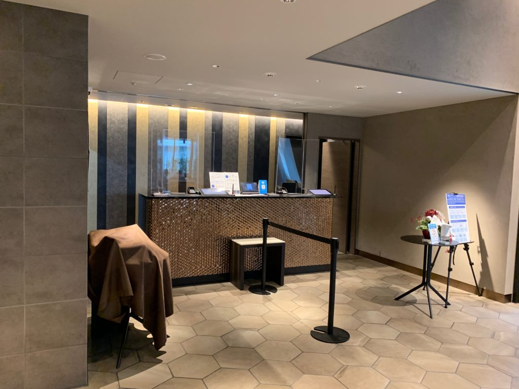 銀座  露天の湯  日和ホテル東京銀座EASTのフロント