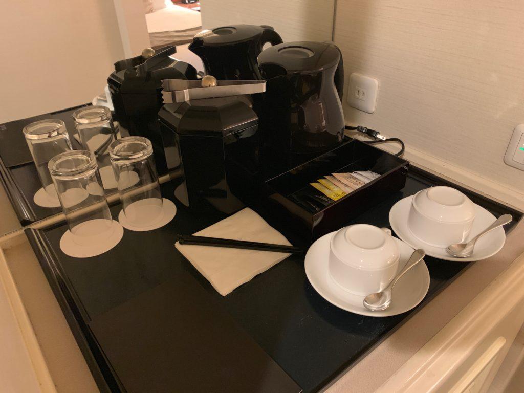 ヨコハマ グランド インターコンチネンタル ホテルのデラックスツインルームのアメニティ