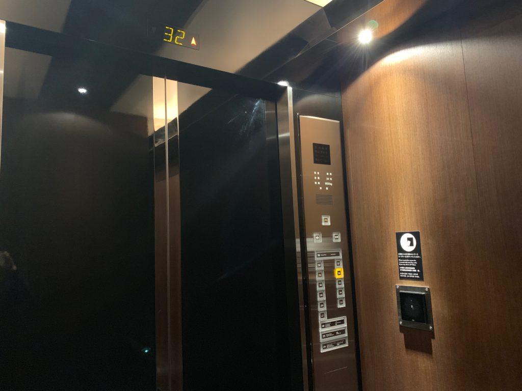 ザ ロイヤルパークホテル アイコニック 東京汐留のエレベーター