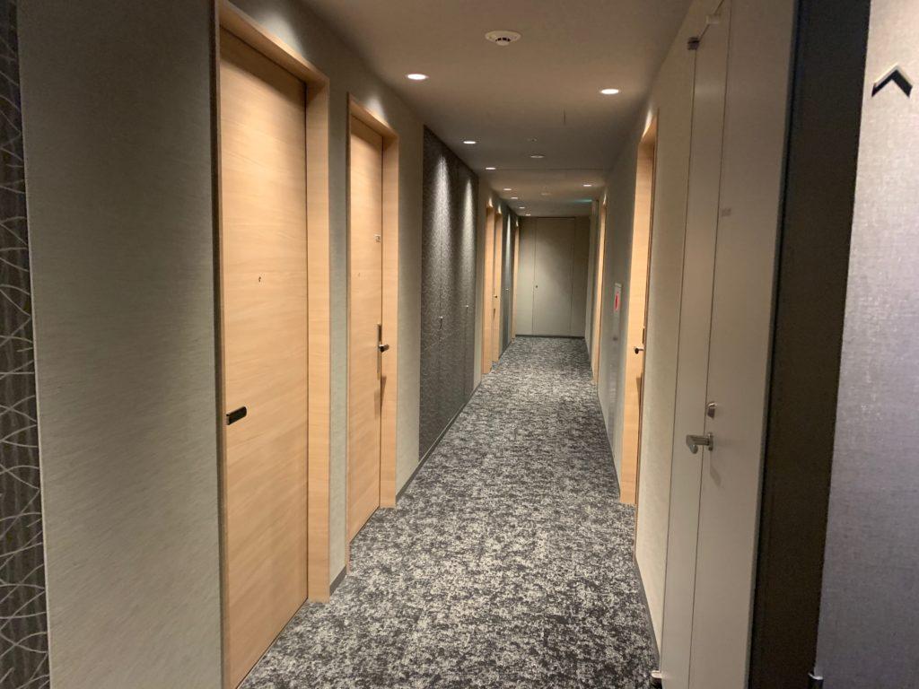 銀座  露天の湯  日和ホテル東京銀座EASTの客室フロア