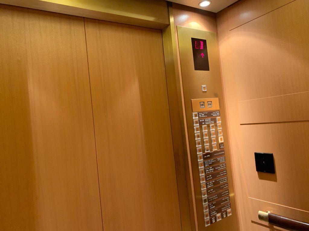 横浜ベイシェラトンホテル&タワーズのエレベーター