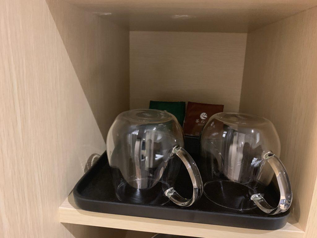 銀座  露天の湯  日和ホテル東京銀座EASTの客室のティーセット
