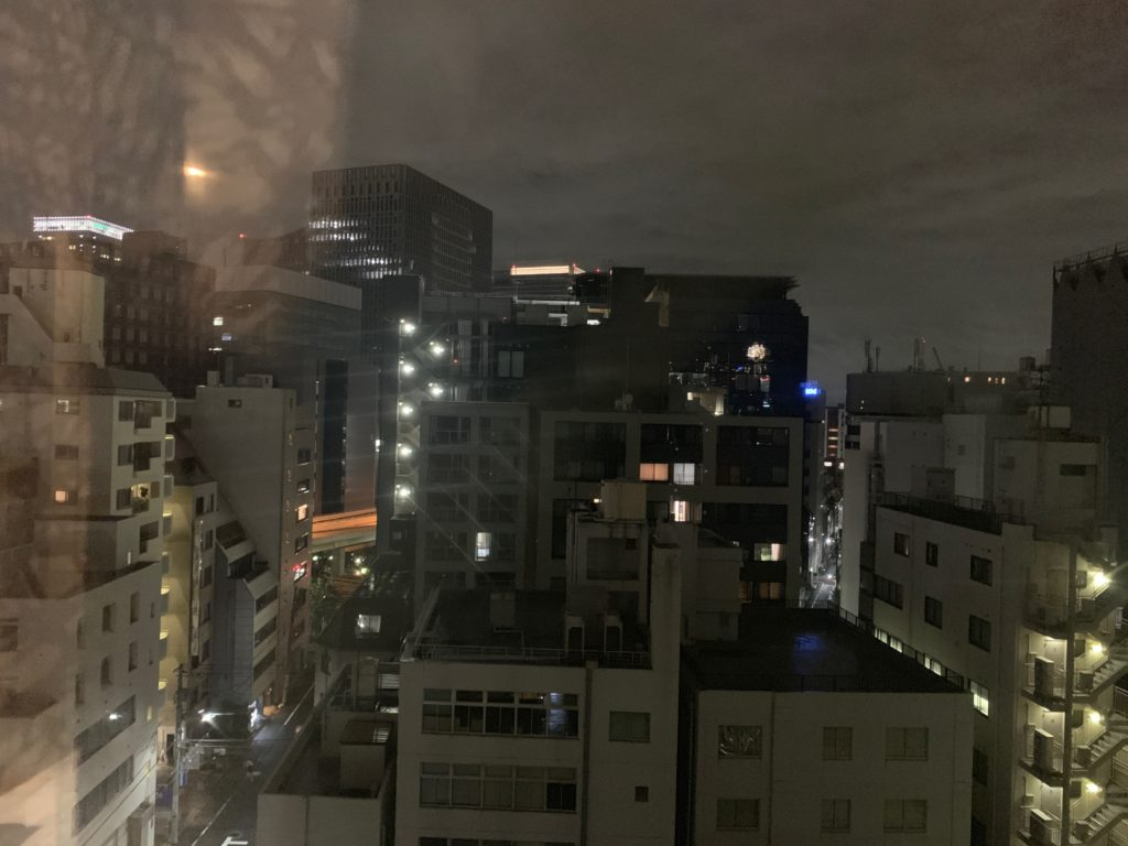 銀座  露天の湯  日和ホテル東京銀座EASTの客室からの眺望