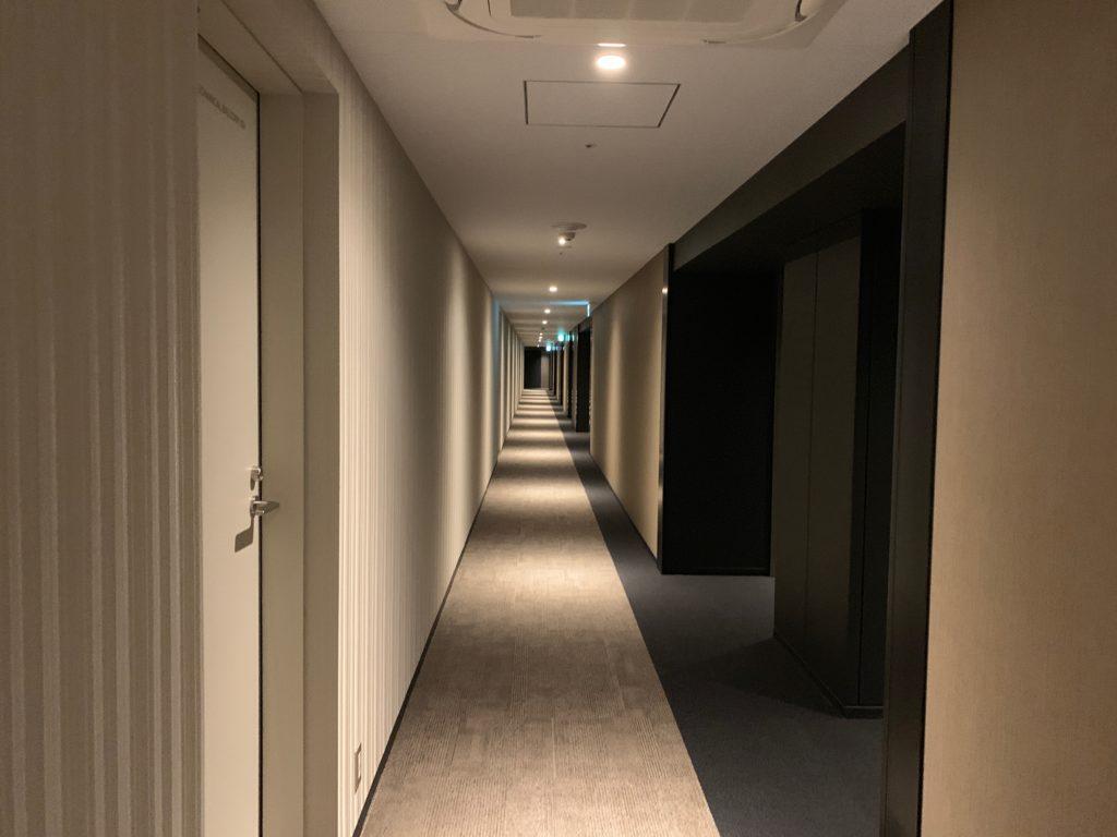 オークウッドスイーツ横浜の客室フロア(51階)