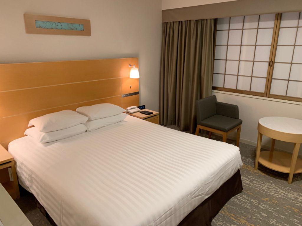 赤坂エクセルホテル東急のスーペリアダブル客室のベッド
