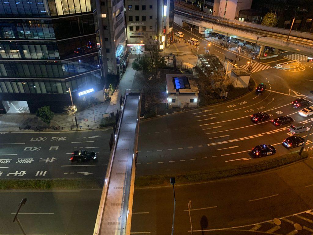 赤坂エクセルホテル東急のスーペリアダブル客室からの眺望
