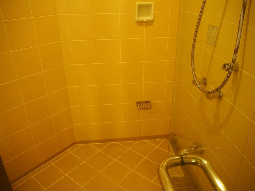 横浜ロイヤルパークホテル『コーナーツインルーム』のバスルームのシャワーブース