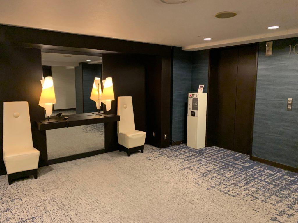赤坂エクセルホテル東急の宿泊フロアエレベーターホール