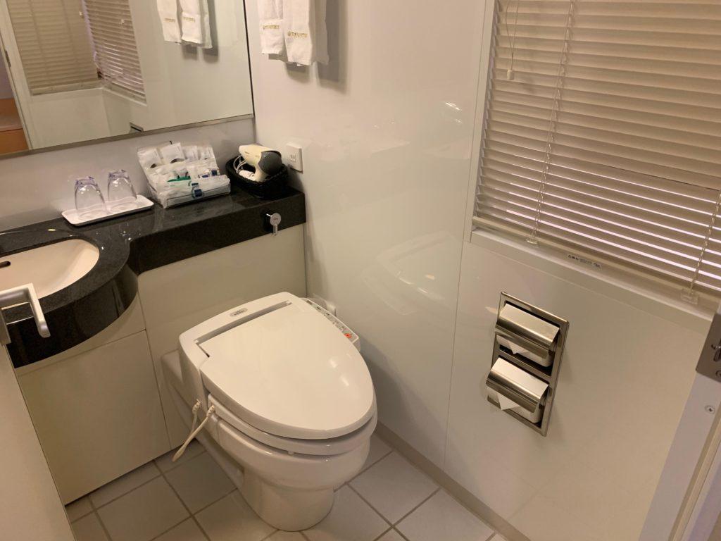 赤坂エクセルホテル東急のスーペリアダブル客室のバスルーム