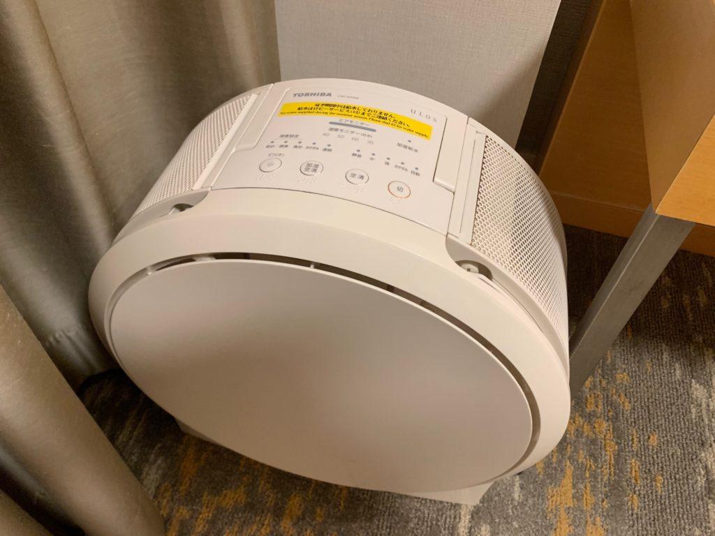 赤坂エクセルホテル東急のスーペリアダブル客室内の空気清浄機