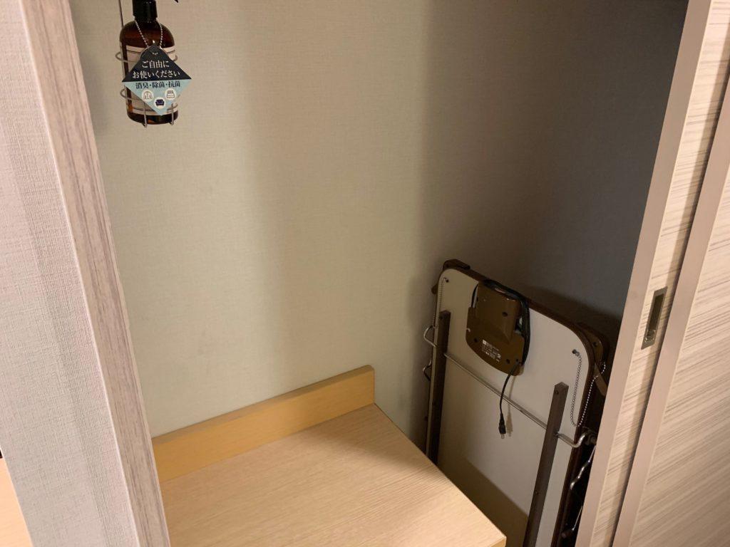 赤坂エクセルホテル東急のスーペリアダブル客室内のクローゼット