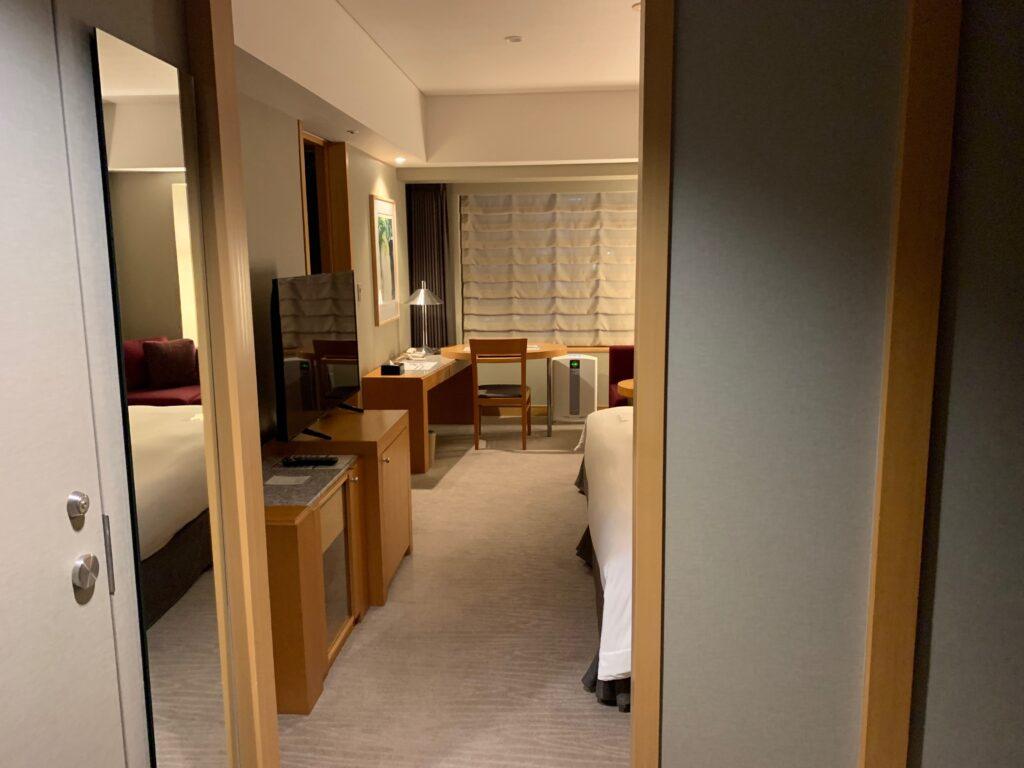 セルリアンタワー東急ホテルのコーナーキングルーム