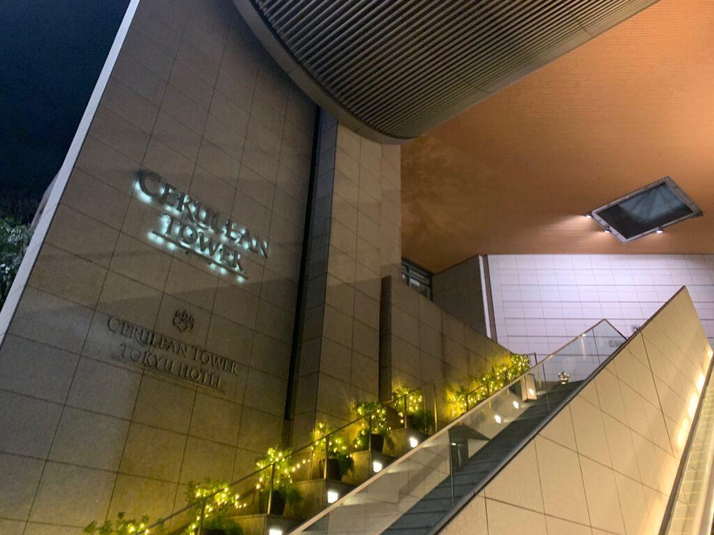 セルリアンタワー東急ホテル入口のエスカレーター