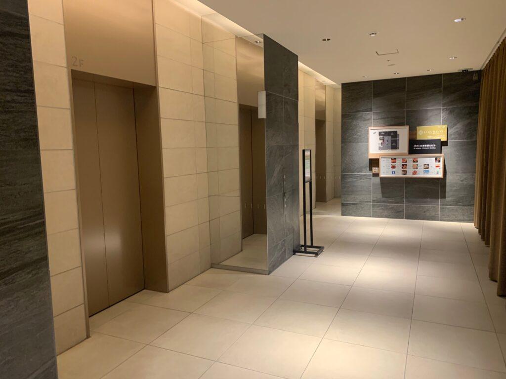 ホテルメトロポリタンさいたま新都心のエレベーターホール