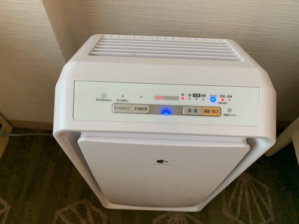 新宿プリンスホテル『デラックスダブル(30.6㎡)』の空気清浄機