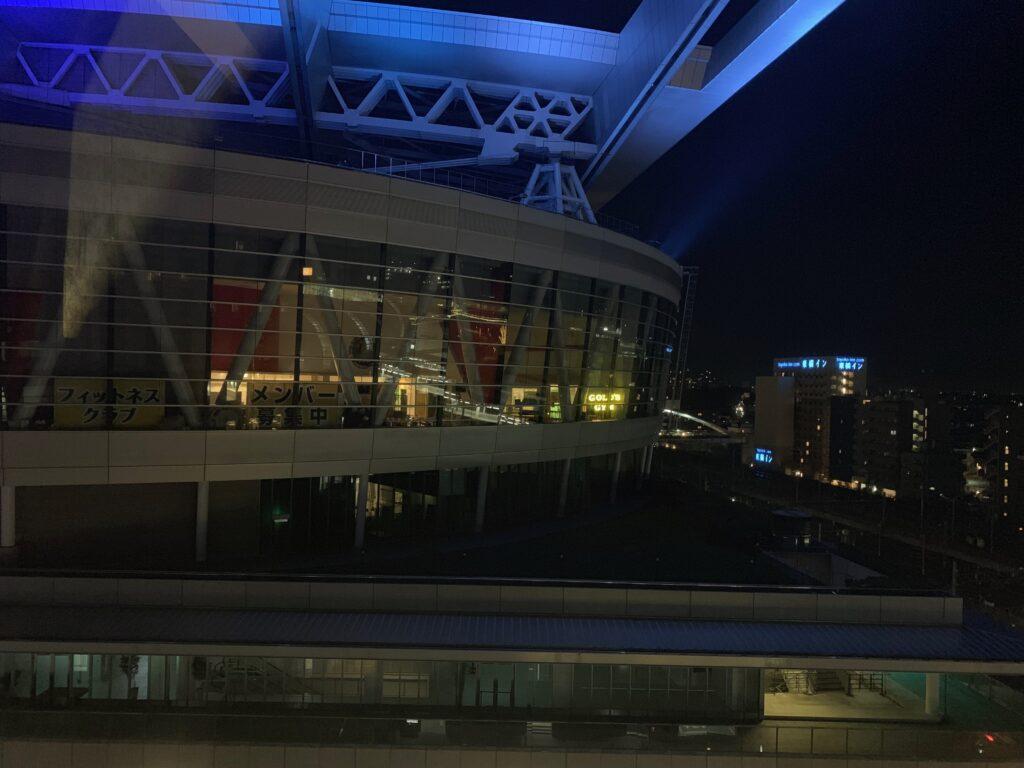 ホテルメトロポリタンさいたま新都心のスーペリアダブル(19㎡)からの眺望